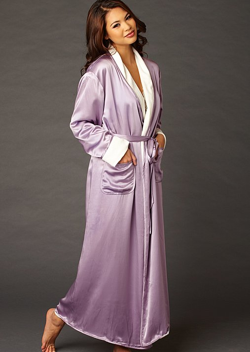 Luxury silk terry reversible robe
