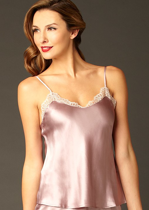 Le Soir silk camisole, luxury silk cami