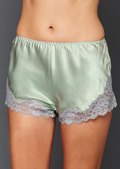 Sweet Indulgence Silk Tap Pant - Silk and Lace Tap Pant, 100% Silk