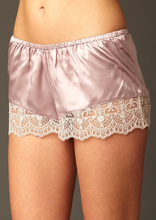 Le Soir Dream Silk Tap Pant - 100% Silk Tap Pant, Silk and Lace Tap Pant