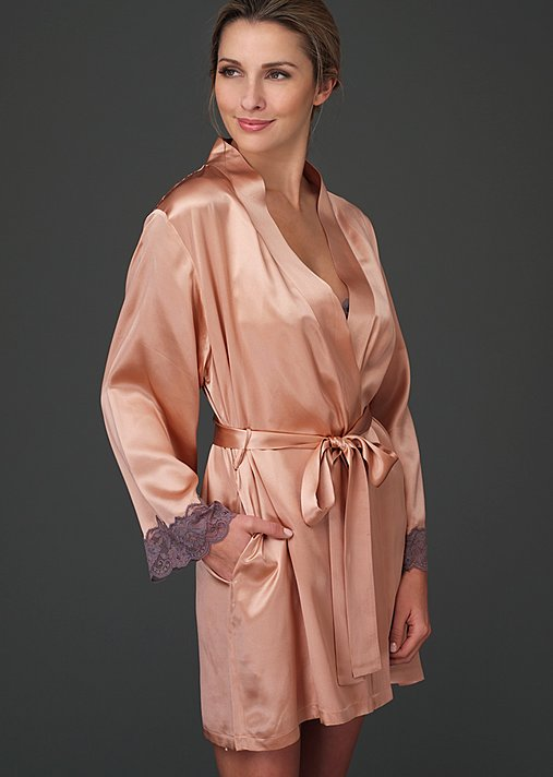 Le Tresor Silk Wrap - Silk Short Robe