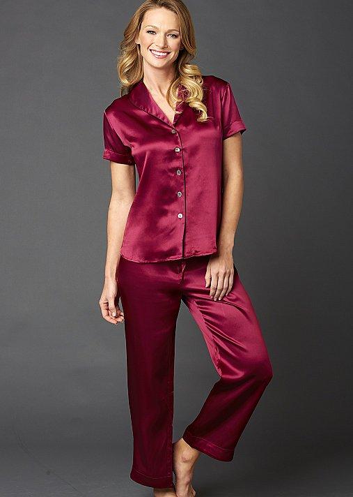 Amelie Silk Pajama - Short Sleeved Silk PJ