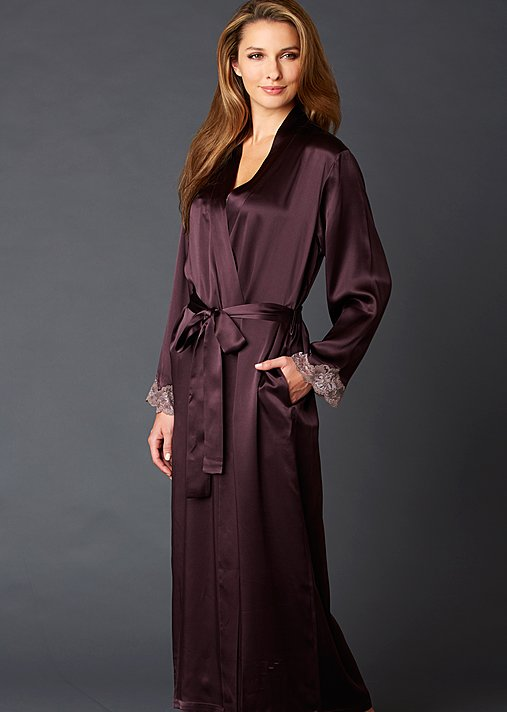 Indulgence Silk Robe - Silk Long Robe