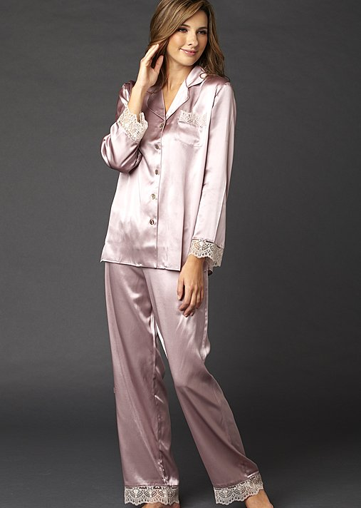Sleep-In Silk Pajama - Women's Pajamas, 100 pct Silk PJ