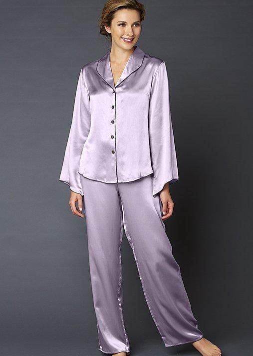 Devon Silk Pajama Petite - Women's Petite Pajamas, 100% Silk