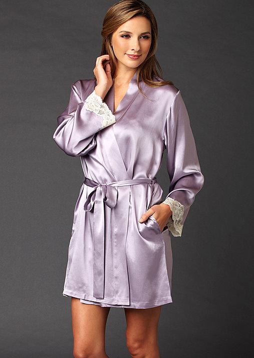 Indulgence Silk Wrap - 100% Silk Robe, Luxury Short Robe