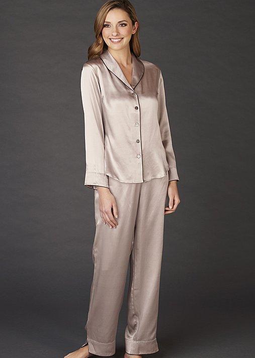 Natalya Silk Pajamas Petite - 100% Silk Pajamas, Women's Short PJ