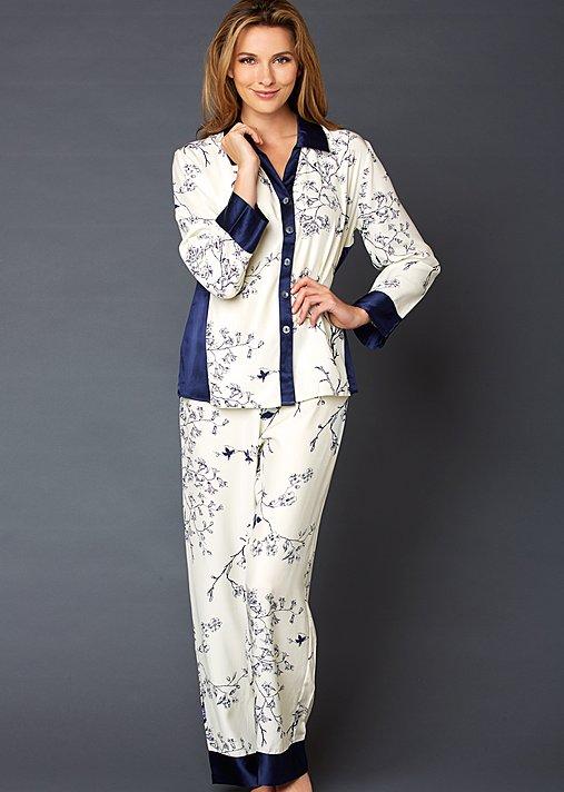 Jewel Garden silk pajamas, pjs