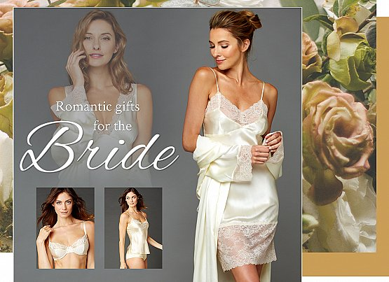 luxury silk sleepwear and lingerie for the bride