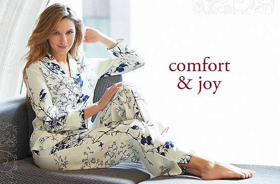 holiday gifts of fine silk pajamas and comfy cotton pjs