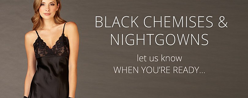 Elegant Black Nightgowns, Silk and Lace Nighties