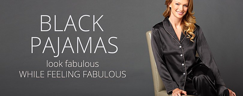 Black Silk Pajamas: Sexy, Luxury PJ Sets