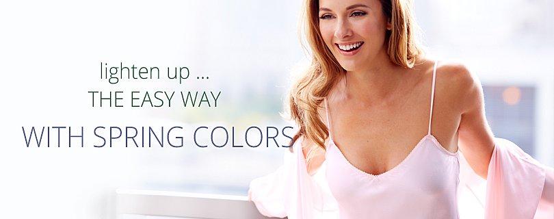 lighten up in fresh colors