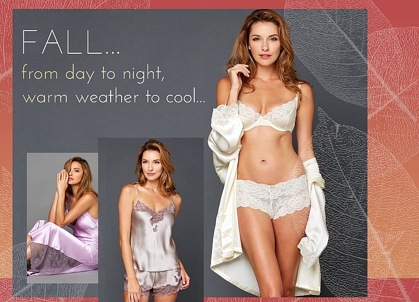 luxury silk sleepwear and lingerie - perfect for fall