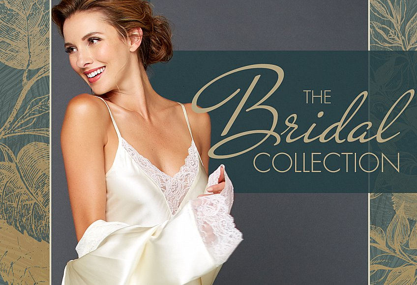 luxury lingerie and sleepwear for the bride and her bridesmaids too
