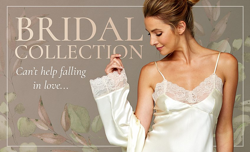 gorgeous luxurious sleepwear for the bride and her bridesmaids!