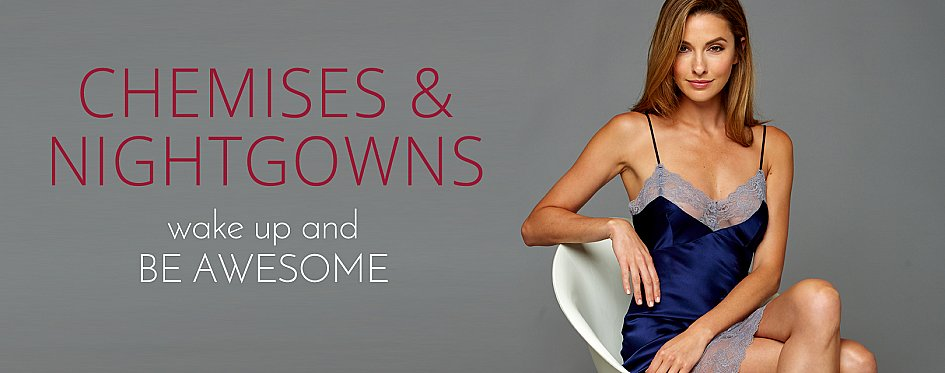 Sexy Silk Chemises, Luxury Silk Nightgowns