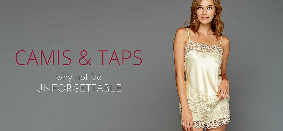 Luxury Cami Sets and Tops in Silk, Lace