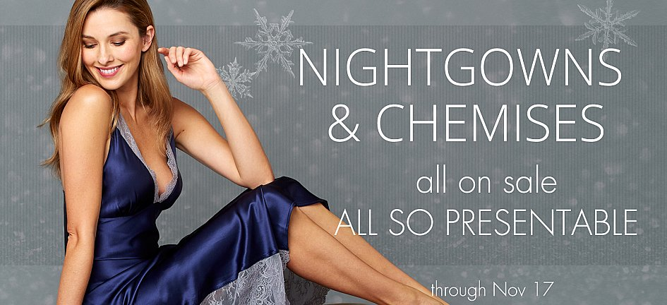 Luxury Silk Nightgowns, Silk Chemises